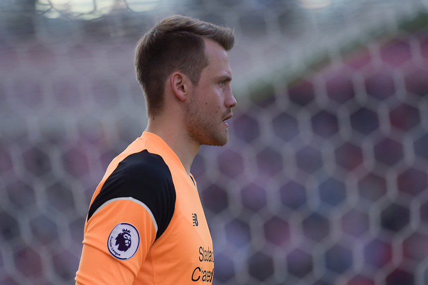 Liverpool's Simon Mignolet<br /> <br /> Photographer Terry Donnelly/CameraSport<br /> <br /> The Premier League - Stoke City v Liverpool - Saturday 8th April 2017 - bet365 Stadium - Stoke-on-Trent<br /> <br /> World Copyright &copy; 2017 CameraSport. All rights reserved. 43 Linden Ave. Countesthorpe. Leicester. England. LE8 5PG - Tel: +44 (0) 116 277 4147 - admin@camerasport.com - www.camerasport.com