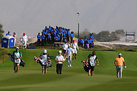 Brandon Stone (RSA) on the 18th during Round 4 of the Oman Open 2020 at the Al Mouj Golf Club, Muscat, Oman . 01/03/2020<br /> Picture: Golffile | Thos Caffrey<br /> <br /> <br /> All photo usage must carry mandatory copyright credit (© Golffile | Thos Caffrey)