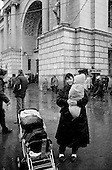 """Moscow, Russia<br /> October 22, 1992<br /> <br /> Kievski train station. <br /> <br /> In December 1991, food shortages in central Russia had prompted food rationing in the Moscow area for the first time since World War II. Amid steady collapse, Soviet President Gorbachev and his government continued to oppose rapid market reforms like Yavlinsky's """"500 Days"""" program. To break Gorbachev's opposition, Yeltsin decided to disband the USSR in accordance with the Treaty of the Union of 1922 and thereby remove Gorbachev and the Soviet government from power. The step was also enthusiastically supported by the governments of Ukraine and Belarus, which were parties of the Treaty of 1922 along with Russia.<br /> <br /> On December 21, 1991, representatives of all member republics except Georgia signed the Alma-Ata Protocol, in which they confirmed the dissolution of the Union. That same day, all former-Soviet republics agreed to join the CIS, with the exception of the three Baltic States."""