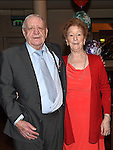 Dessie Clarke celebrating his 80th birthday in the Thatch with his wife. Photo:Colin Bell/pressphotos.ie