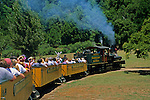 Steam train ride at Roaring Camp, Felton, Santa Cruz County, CALIFORNIA