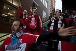 04/14/2011 - Fans celebrate at Jeld-Wen Field Thursday as the Portland Timbers' prepare to take on Chicago opening day.