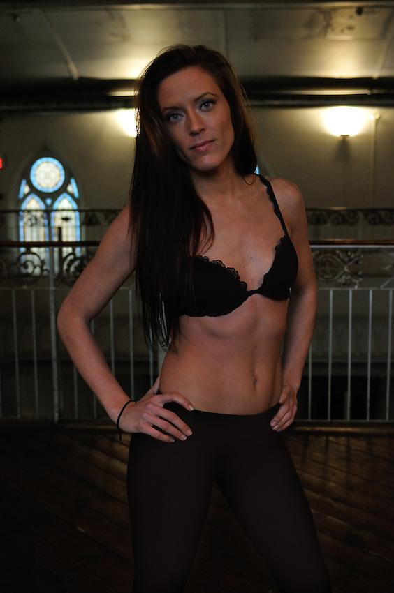Gregory Holmgren Photography, model portfolio for Ashley Hussey at Berkeley Church, Toronto, ON, December 10, 2012.