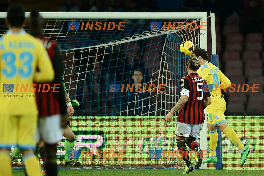 Gol di Gonzalo Higuain Napoli 2-1. Celebration goal<br /> Napoli 08-02-2014 Stadio San Paolo - Football 2013/2014 Serie A. Napoli - Milan Foto Insidefoto