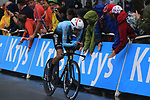 Fabio Aru (ITA) Astana in action during Stage 1, a 14km individual time trial around Dusseldorf, of the 104th edition of the Tour de France 2017, Dusseldorf, Germany. 1st July 2017.<br /> Picture: Eoin Clarke | Cyclefile<br /> <br /> <br /> All photos usage must carry mandatory copyright credit (&copy; Cyclefile | Eoin Clarke)