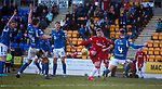 23.02.2020 St Johnstone v Rangers: Florian Kamberi hits the net but is rules offside