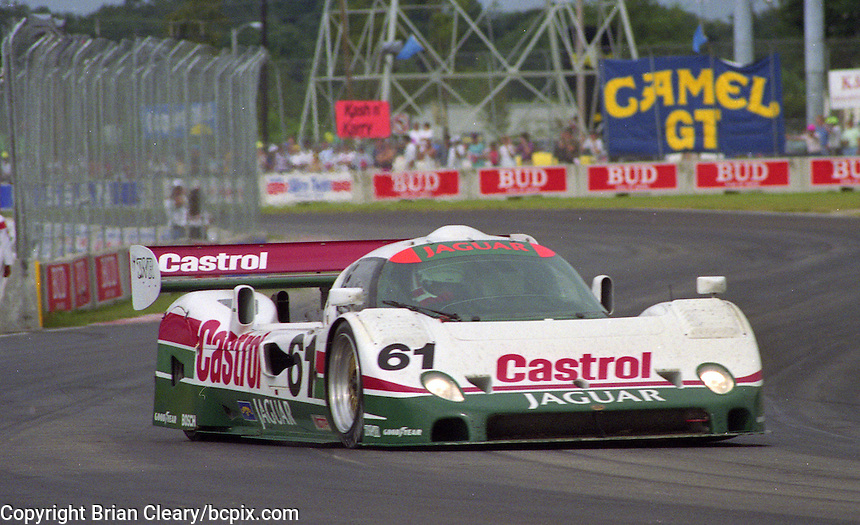 The #61 Castrol Jaguar Racing Jaguar XJR-10 of  John Nielsen  races to a 4th place finish in the Nissan World Challenge of Tampa,  Florida State Fairgrounds, September 1990. (Photo by Brian Cleary/www.bcpix.com)
