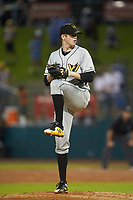 West Virginia Power starting pitcher Gavin Wallace (36) in action against the Greensboro Grasshoppers at First National Bank Field on June 1, 2018 in Greensboro, North Carolina. The Grasshoppers defeated the Power 10-3. (Brian Westerholt/Four Seam Images)