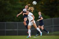 Sky Blue FC defender Christie Rampone (3) heads the ball. Sky Blue FC defeated the Washington Spirit 1-0 during a National Women's Soccer League (NWSL) match at Yurcak Field in Piscataway, NJ, on August 3, 2013.