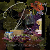 Interlitho-, STILL LIFE STILLEBEN, NATURALEZA MORTA, paintings+++++,wine, cheese,KL4544,#i#, EVERYDAY ,napkins,Franco