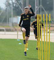 20180304 - LARNACA , CYPRUS :  Belgian Silke Vanwynsberghe pictured during a Matchday -1 training from The Belgian Red Flames prior to their game against Austria , on Sunday 4 March 2018 at the Alpha Sports Grounds in Larnaca , Cyprus . This will be the third game in group B for Belgium during the Cyprus Womens Cup , a prestigious women soccer tournament as a preparation on the World Cup 2019 qualification duels. PHOTO SPORTPIX.BE | DAVID CATRY