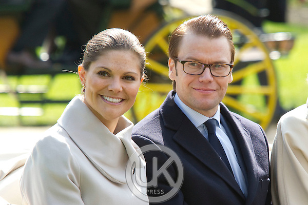 Crown Princess Victoria, and Prince Daniel of Sweden on a two day official visit to France..Visit to Chateau le Grange, near Paris.