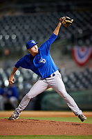 Dunedin Blue Jays relief pitcher Josh DeGraaf (23) delivers a pitch during a game against the Florida Fire Frogs on April 10, 2017 at Osceola County Stadium in Kissimmee, Florida.  Florida defeated Dunedin 4-0.  (Mike Janes/Four Seam Images)