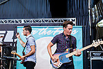 The New Jersey band &quot;For the Foxes&quot; performed at the Shoreline Amphitheater on June 22, 2013 during the 2013 Vans Warped Tour. The four members are Nicholas Francis (vocals), Jimmy Brindley (guitar), Danny Vassallo (drums) and<br />