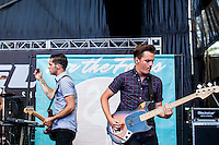 The New Jersey band &quot;For the Foxes&quot; performed at the Shoreline Amphitheater on June 22, 2013 during the 2013 Vans Warped Tour. The four members are Nicholas Francis (vocals), Jimmy Brindley (guitar), Danny Vassallo (drums) and<br /> Jonathan Brunner (bass).