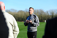 Pictured: Lee Trundle speaks During the Swansea City Business Network day at the Fairwood Training Ground Thursday 21 February 2019<br /> Re: