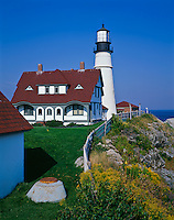 Cumberland County, ME<br /> Portland Head Lighthouse (1791) in Cape Elizabeth, Maine's oldest lighthouse