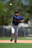 Minnesota Twins Engelb Vielma (7) during a minor league Spring Training game against the Baltimore Orioles on March 16, 2016 at CenturyLink Sports Complex in Fort Myers, Florida.  (Mike Janes/Four Seam Images)