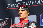 Manuel Quinziato (ITA) BMC Racing Team on stage before the start of Gent-Wevelgem in Flanders Fields 2017, running 249km from Denieze to Wevelgem, Flanders, Belgium. 26th March 2017.<br /> Picture: Eoin Clarke | Cyclefile<br /> <br /> <br /> All photos usage must carry mandatory copyright credit (&copy; Cyclefile | Eoin Clarke)