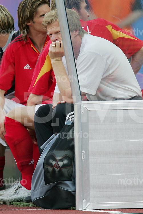 Fussball International FIFA Confederations Cup 2005 Halbfinale Deutschland - Brasilien Oliver Kahn (GER) enttaeuscht