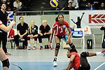 Rüsselsheim, Germany, April 13: Cristina Alves Oliveira Ferreira #1 of the Rote Raben Vilsbiburg in action during play off Game 1 in the best of three series in the semifinal of the DVL (Deutsche Volleyball-Bundesliga Damen) season 2013/2014 between the VC Wiesbaden and the Rote Raben Vilsbiburg on April 13, 2014 at Grosssporthalle in Rüsselsheim, Germany. Final score 0:3 (Photo by Dirk Markgraf / www.265-images.com) *** Local caption ***
