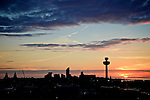 Liverpool Skyline Sunset
