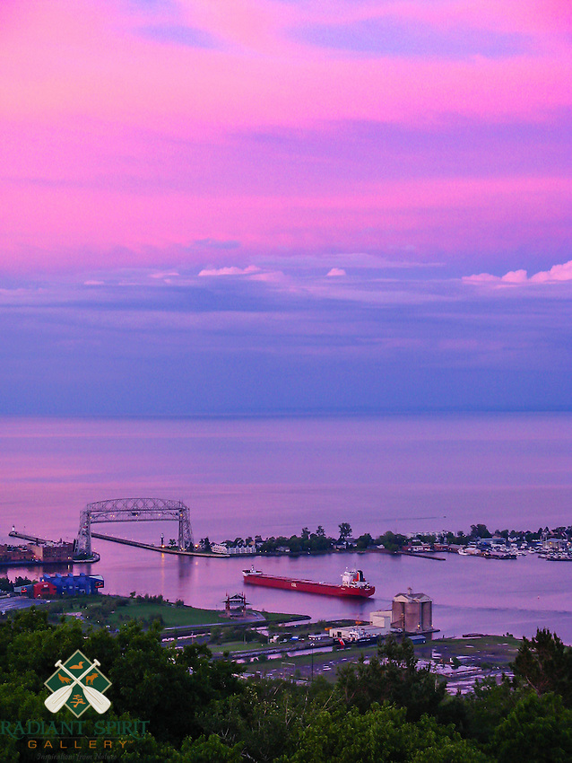 &quot;Duluth Harbor Under a Pink Sky&quot;<br />