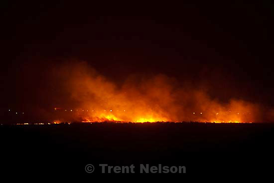 West Valley City -brush fire in high winds, Thursday August 6, 2009..