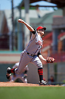 Richmond Flying Squirrels pitcher Stephen Johnson (19) delivers a pitch during a game against the Erie Seawolves on May 20, 2015 at Jerry Uht Park in Erie, Pennsylvania.  Erie defeated Richmond 5-2.  (Mike Janes/Four Seam Images)