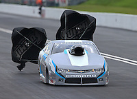 Jun 20, 2015; Bristol, TN, USA; NHRA pro stock driver Jonathan Gray during qualifying for the Thunder Valley Nationals at Bristol Dragway. Mandatory Credit: Mark J. Rebilas-