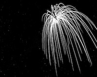 Night Fireworks Custer 1962