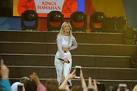 NEW YORK, NY - JUNE 01: Recording artist Halsey performs during ABC's 'Good Morning America' at Rumsey Playfield, Central Park on June 1, 2018 in New York City<br /> CAP/MPI122<br /> &copy;MPI122/Capital Pictures