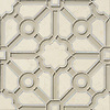 Jardin, a handmade mosaic shown in honed Bianco Antico, polished Calacatta and Raw Fiber Serenity glass, is part of the Parterre Collection by Paul Schatz for New Ravenna.