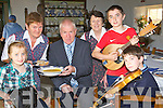 Minister Jimmy Deenihan enjoys a nice bowl of homemade soup as he listens to the musicians at the launch of the Muckross Farms night of Culture which will be held in the farms on the 23 Sepetmber l-r: Mary McCarthy, Bridie Doherty, Minister Deenihan, Breda Doherty, Sean Doherty and Cian O'Sullivan