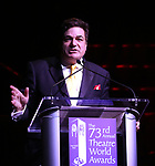 Dale Badway on stage at the 73rd Annual Theatre World Awards at The Imperial Theatre on June 5, 2017 in New York City.