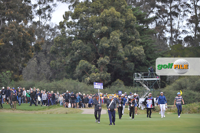 Mike Lorenzo-Vera (FRA) and Cameron Smith (AUS) during the 3rd round of the World Cup of Golf, The Metropolitan Golf Club, The Metropolitan Golf Club, Victoria, Australia. 24/11/2018<br /> Picture: Golffile | Anthony Powter<br /> <br /> <br /> All photo usage must carry mandatory copyright credit (© Golffile | Anthony Powter)
