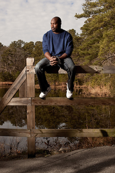 January 10, 2012. Fayetteville, NC.. Will Witherspoon, a linebacker for the NFL's Tennessee Titans, is getting his MBA through George Washington University in a program specially designed for athletes. Witherspoon runs a grass fed beef farm, two doggie day cares and a renewable energy company in his off time.