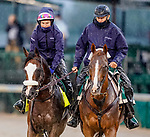 September 3, 2020: Tiz the Law exercises as horses prepare for the 2020 Kentucky Derby and Kentucky Oaks at Churchill Downs in Louisville, Kentucky. The race is being run without fans due to the coronavirus pandemic that has gripped the world and nation for much of the year. Scott Serio/Eclipse Sportswire/CSM