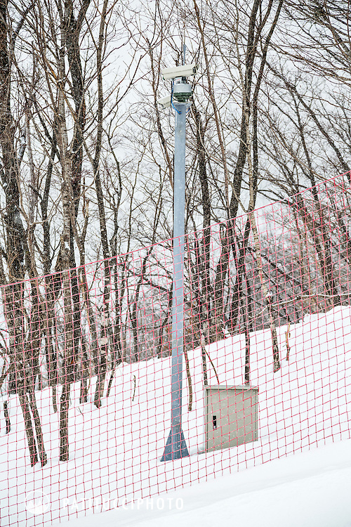 North Korean security camera along the pistes at Masik Ryong Ski Resort, North Korea