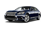 Stock pictures of low aggressive front three quarter view of 2016 Lexus LS L 4 Door Sedan 2WD Low Aggressive