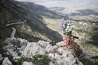 memorial for a cyclist on the top of the Coll de Rates (alt 626m/Alicante/Spain)