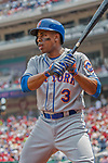 29 April 2017: New York Mets outfielder Curtis Granderson stands on deck during the second inning against the Washington Nationals at Nationals Park in Washington, DC. The Mets defeated the Nationals 5-3 to take the second game of their 3-game weekend series. Mandatory Credit: Ed Wolfstein Photo *** RAW (NEF) Image File Available ***