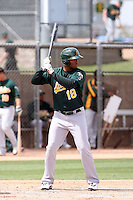Jeremy Barfield, Oakland Athletics 2010 minor league spring training..Photo by:  Bill Mitchell/Four Seam Images.