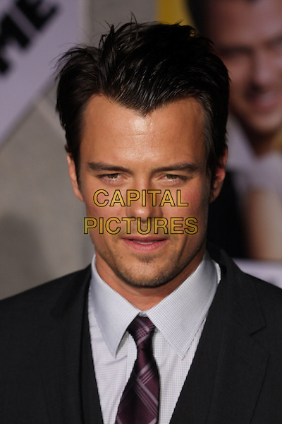 "JOSH DUHAMEL .""When In Rome"" Los Angeles Premiere - Arrivals held at The El Capitan Theater, Hollywood, CA, USA, .27th January 2010..portrait headshot black tie  grey gray shirt purple beard facial hair stubble tanned sun tan .CAP/ADM/CH.©Charles Harris/AdMedia/Capital Pictures"