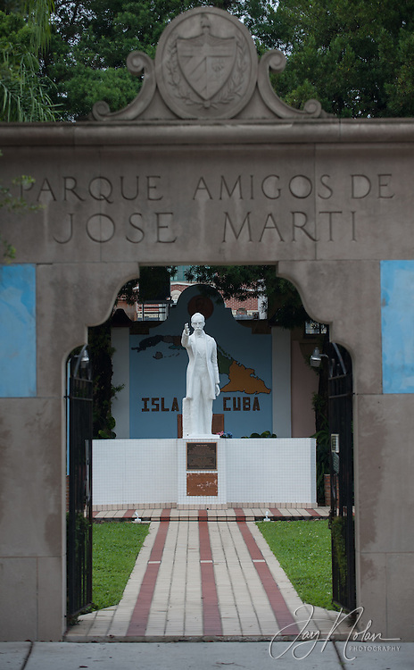 The small park with a statue of Jose Marti was made using soil from Cuba. Photo/Jay Nolan
