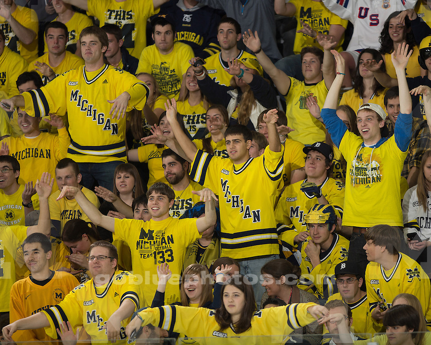 The No. 6 University of Michigan ice hockey team lost to No. 3 Miami (Ohio), 4-3, at Yost Ice Arena in Ann Arbor, Mich., on October 27, 2012.