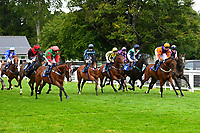 The start of the Bathwick Tyres Salisbury Handicap (Class 6), during Afternoon Racing at Salisbury Racecourse on 7th August 2017