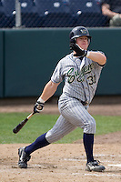 July 1, 2007: Eugene Emeralds' Daniel Payne takes a cut during a Northwest League game against the Everett AquaSox at Everett Memorial Stadium in Everett, Washington.