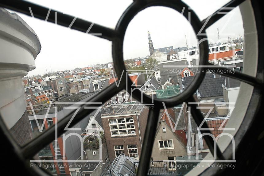 AMSTERDAM-HOLANDA. Vista de la ciudad de Amsterdam desde el auditorio Felix Meritis. Amsterdam view from a Felix Meritis auditorium. Photo: VizzorImage/STR