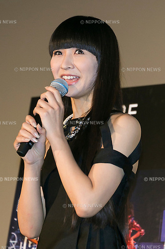 Kashiyuka a member of the Japanese pop girl group Perfume speaks during a stage greeting for the movie ''WE ARE Perfume WORLD TOUR 3rd DOCUMENT'' at TOHO CINEMAS in Roppongi on October 24, 2015, Tokyo, Japan. Perfume's movie will be released in Japanese theaters on October 31. The screening is part of the 28th Tokyo International Film Festival which is one of the biggest film festivals in Asia and runs from October 22 to Saturday 31. (Photo by Rodrigo Reyes Marin/AFLO)